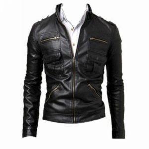 Men Leather Blazer