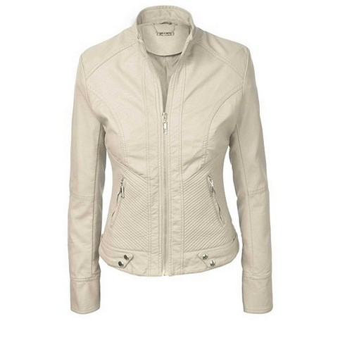 Women Leather Blazer 1